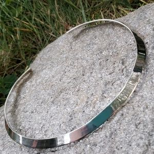 Vintage Mexico 925 Sterling Silver Collar Necklace